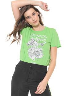 Camiseta Colcci Estampada Neon Verde