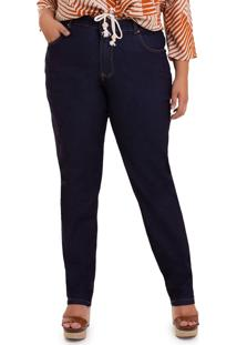 Calça Flare Jeans Plus Size-50