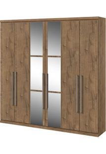 Guarda-Roupa Alonzo Com Espelho - 6 Portas - Carvalho Soft Guarda-Roupa Alonzo - 6 Portas - Carvalho Soft - Com Espelho