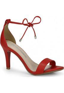 Sandália Salto Fino Via Marte Vermelho