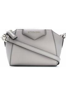 Givenchy Bolsa Transversal Antigona Nano - Cinza