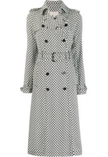 Michael Michael Kors All-Over Logo Trench Coat - Branco