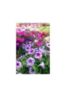 Painel Adesivo De Parede - Jardim De Flores - 042Pn-P
