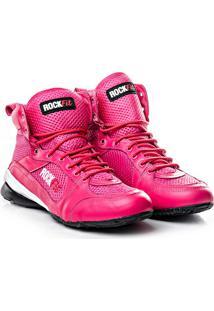 Bota De Treino Rock Fit Work Out Em Couro Pink