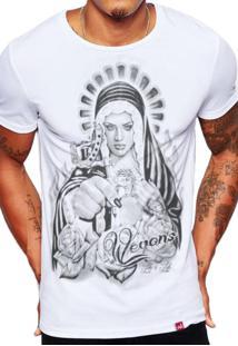 Camiseta Wevans Santa Tattoo Branco