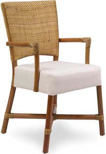 Cadeira Palo Alto Com Braço Palha De Rattan Junco Envelhecido Estrutura Apuí Eco Friendly Design Scaburi