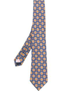 Tagliatore Gravata Com Bordado Geométrico - Azul