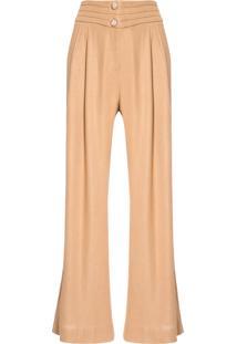 Calça Feminina Pantalona - Bege