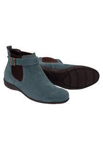 Botina Chelsea Boots Feminina Escrete Azul