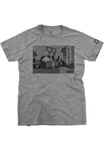 Camiseta Stoned Strange Simpsons Cinza