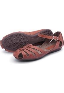 Sandália Sapatilha Feminina Top Franca Shoes - Feminino-Marrom