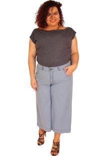 Calça Pantacurt True E-Motion Bruna Jeans Lavagem Clara Azul