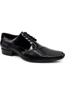 Sapato Social Masculino Gofer Couro - Masculino-Preto