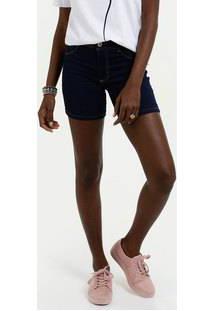 Bermuda Feminina Jeans Stretch Cintura Média Biotipo