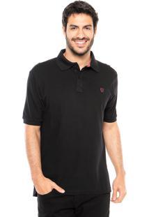 Camisa Polo Mr Kitsch Basic Preta