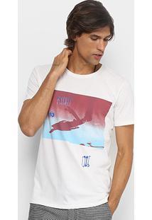 Camiseta Redley Estampada Masculina - Masculino-Off White