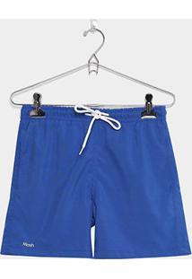 Short Infantil Mash Liso Masculino - Masculino-Azul Royal
