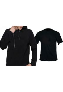 Moletom + Camiseta Triztam 999 Preto
