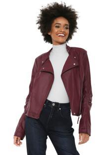 Jaqueta Calvin Klein Jeans Perfecto Roxa