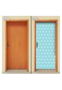 Adesivo Decorativo De Porta - Estrelas - Infantil - Azul - 1669Cnpt