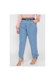 Calça Jeans Dimy Reta Clochard Azul