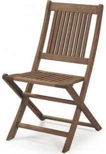 Cadeira Dobrável Sem Braços Primavera Casa E Jardim Móveis Stain Castanho