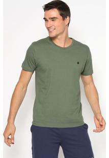 Camiseta Lisa Com Bordado- Verde Militar & Preta- Lilimits