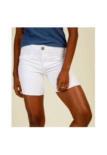 Bermuda Feminina Sarja Cintura Alta Bolsos Marisa