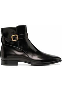 Tod'S Ankle Boot Com Detalhe De Fivela - Preto