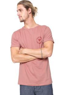 Camiseta Yachtsman Estampada Rosa