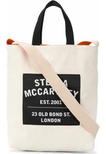 Stella Mccartney Bolsa Tote Com Patch De Logo - Neutro
