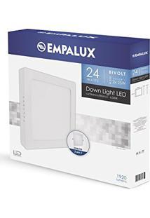Painel Plafon Downlight Quadrado / Sobrepor Ou Embutir 2X1 30Cm 24W/ Empalux Bivolt
