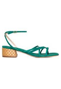 Sandália Feminina Mini Block Heel - Verde