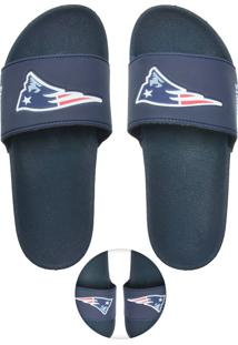 Chinelo Nfl New England Patriots Colors Preto