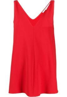 Stella Mccartney Blusa Sem Mangas Com Decote Em V - Vermelho