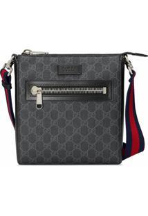Gucci Messenger Bag Gg Supreme Pequena - Preto