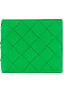 Bottega Veneta Carteira Com Trama - Verde