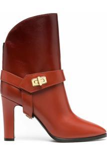 Givenchy Ankle Boot Com Salto Médio - Laranja