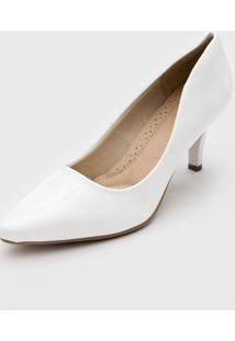 Scarpin Facinelli By Mooncity Liso Branco