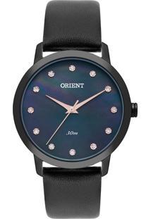 Relógio Orient Feminino Madrepérola Analógico Preto Fpsc0003-P1Px - Kanui