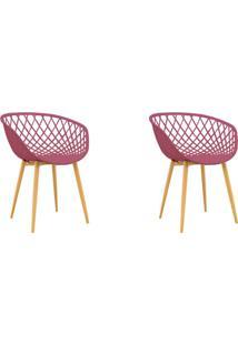 Conjunto Com 2 Cadeiras Clarice Cereja