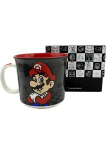 Caneca Super Mario Kart Black 350 Ml