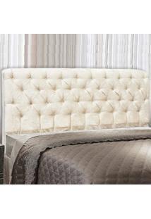 Cabeceira Paris Cama Box Queen 160 Cm Velvet Acetinado Off-White 2622 - Js Móveis