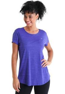 Camiseta Líquido Levíssima Energy Feminina - Feminino-Roxo