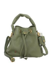 Bolsa Shape Envelope Verde Feminina Atz 13