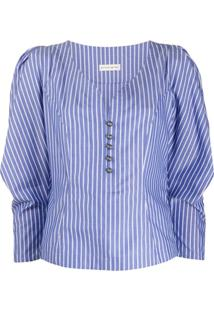 Etro Blusa Com Ombros Bufantes - Azul