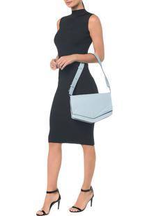 Bolsa Pocket Bag Couro Grande - Azul Claro - U