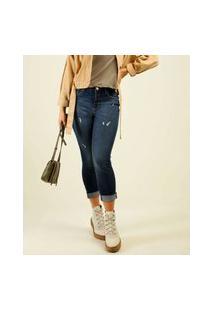 Calça Jeans Puídos Skinny Feminina Marisa
