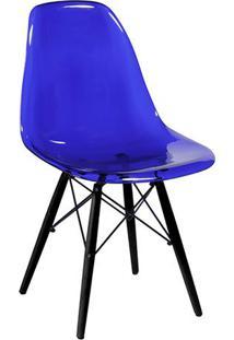 Cadeira Eames Dkr- Azul & Preta- 80,5X46,5X42Cm-Or Design
