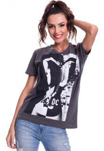 Camiseta Jazz Brasil Ac/Dc Preto Estonado